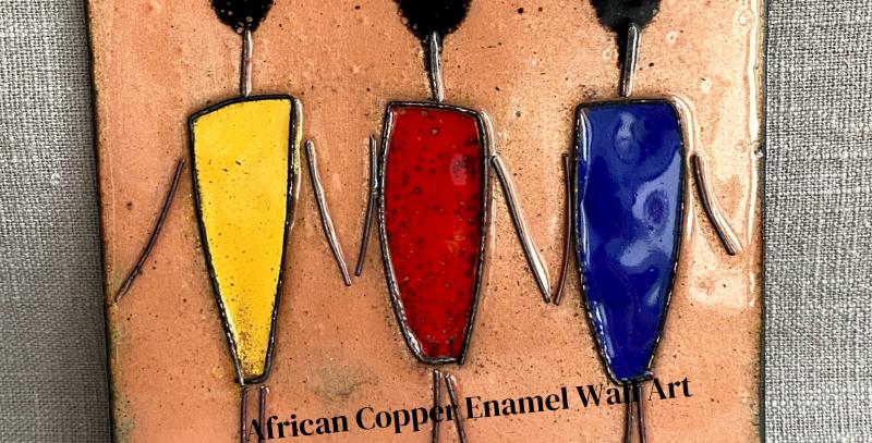 African Women Enamel Art