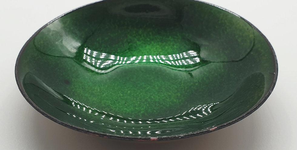 green enamel ring bowl