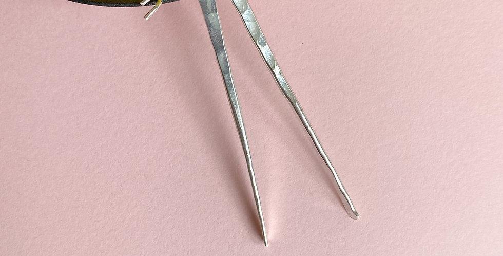 Tapered Sterling Silver Earrings