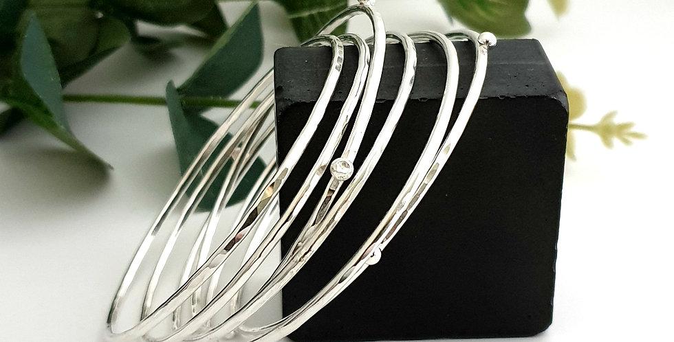 handmade sterling silver bangle set