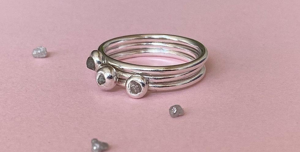 Raw Diamond Stacking Ring