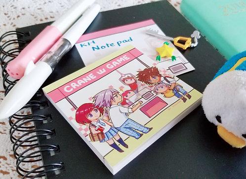 Kingdom Hearts note pad