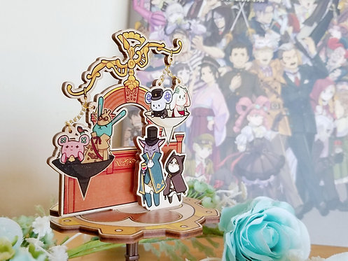 The Great Ace Attorney Chronicles judicial court wooden stand