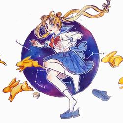Usagi, Sailor Moon (Ink)