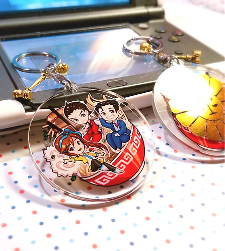 Ace Attorney lawyer badge Foil keychain