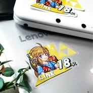LoZ BotW x Smash Bros Link Sticker