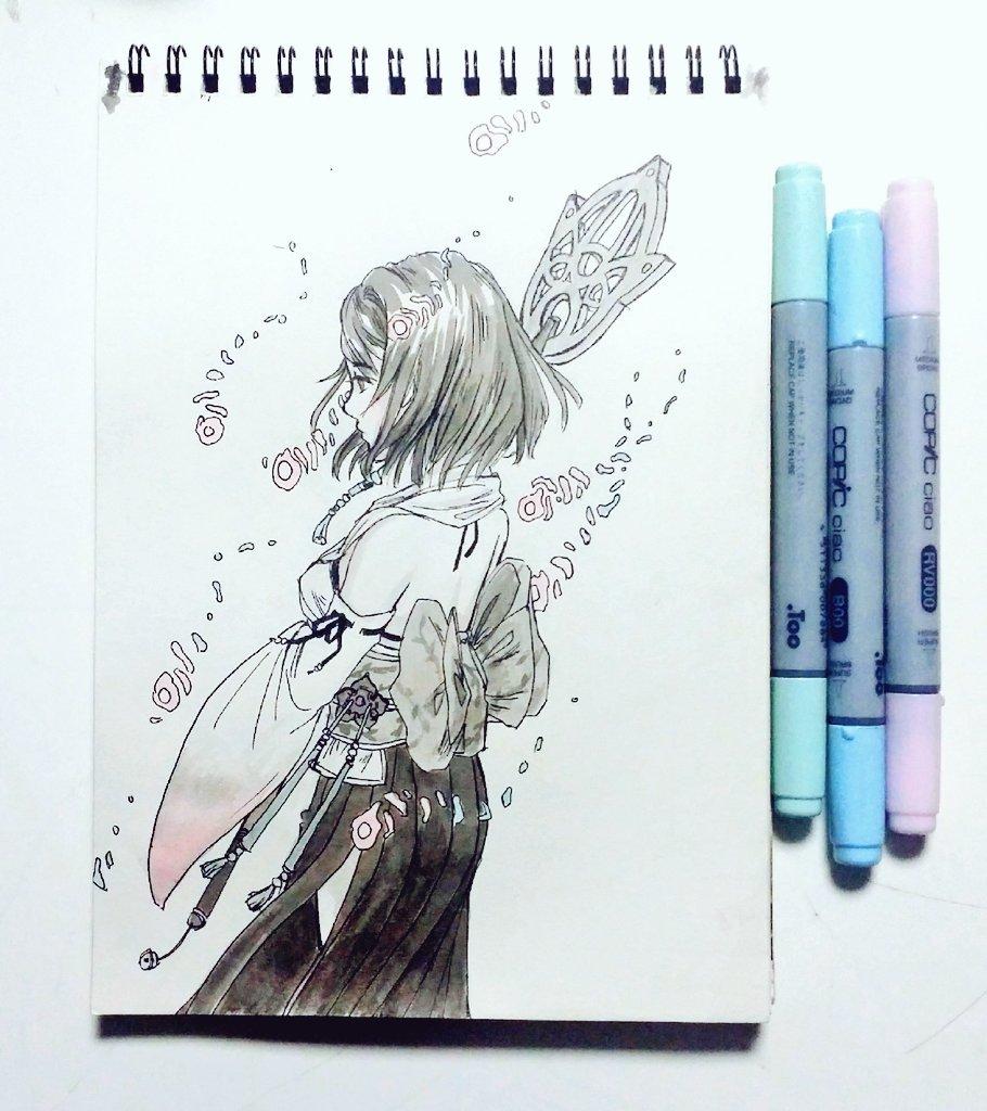 Yuna, FFX (Ink & Marker)