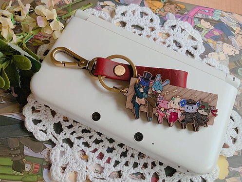 Great Ace Attorney Chronicles mascots leather strap