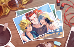 KH: Roxas, Axel, and Xion