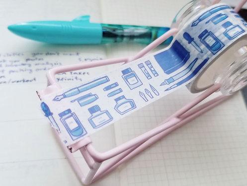 Ink stationary washi tape