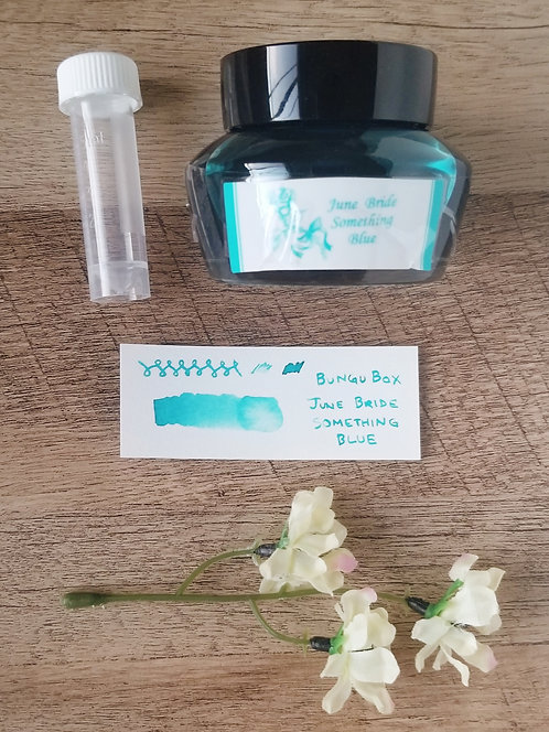 "Bungubox ""June Bride Something Blue"" Ink Sample"