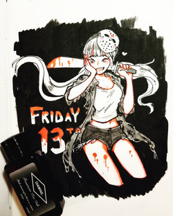 Friday the 13th (ink)