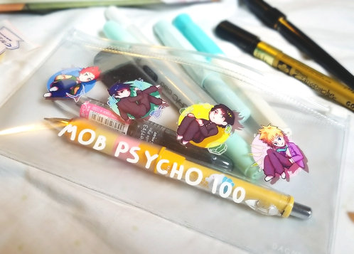 Mob Psycho Psychic kids clear pouch