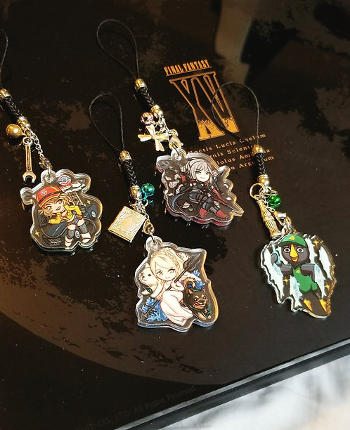 FF XV girls (+kenny?) double sided charm