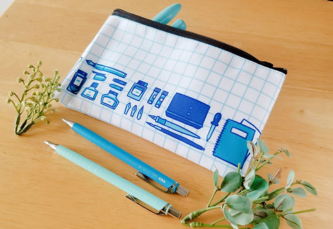 Ink stationary canvas pouch