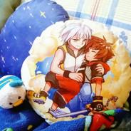 KH DDD Sora and Riku Cushion
