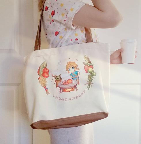 Botw Link's kitchen canvas tote bag