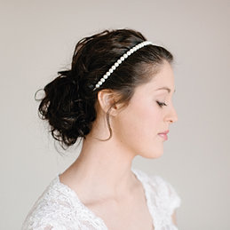 Wedding Hair Band By Pearl Ivory