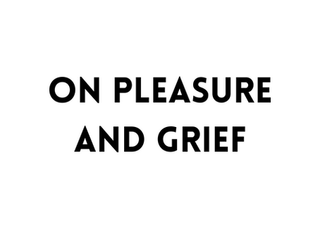 On Pleasure and Grief