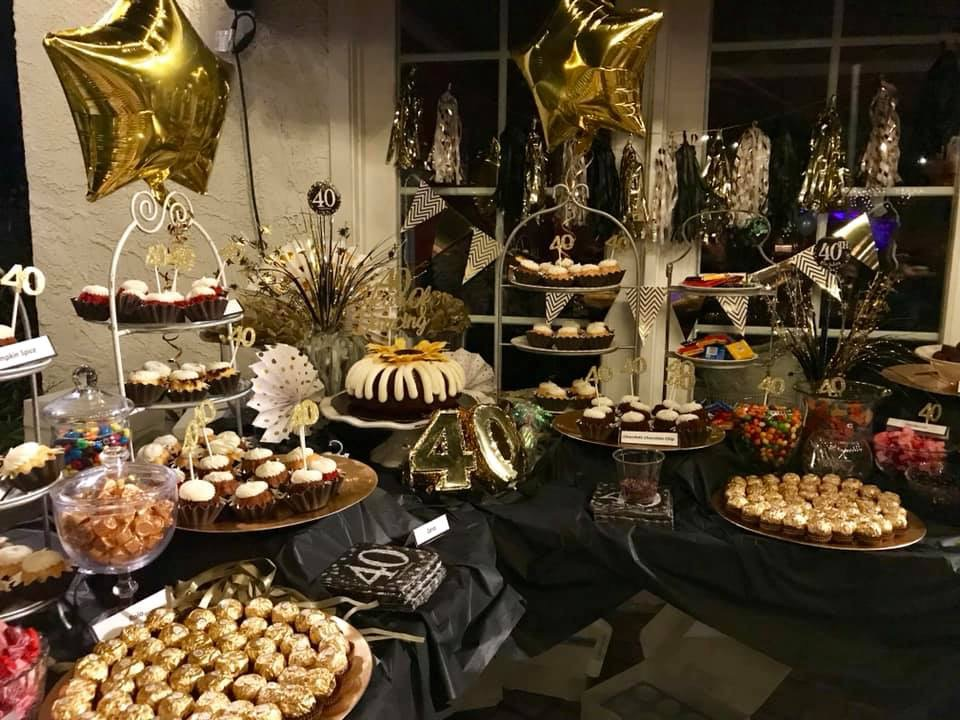 40th Birthday Party Dessert Bar