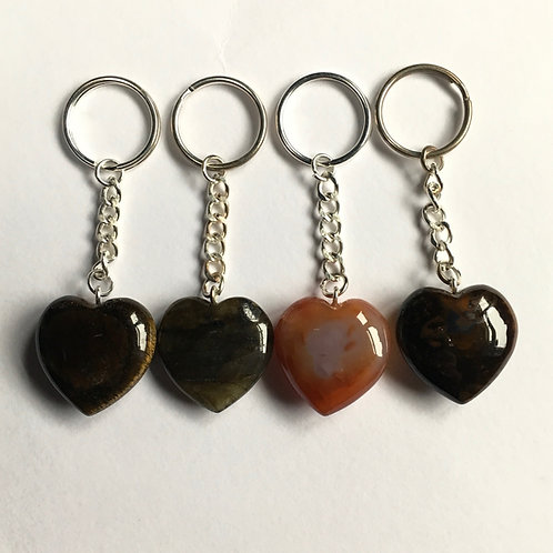 Crystal Heart  Keyrings