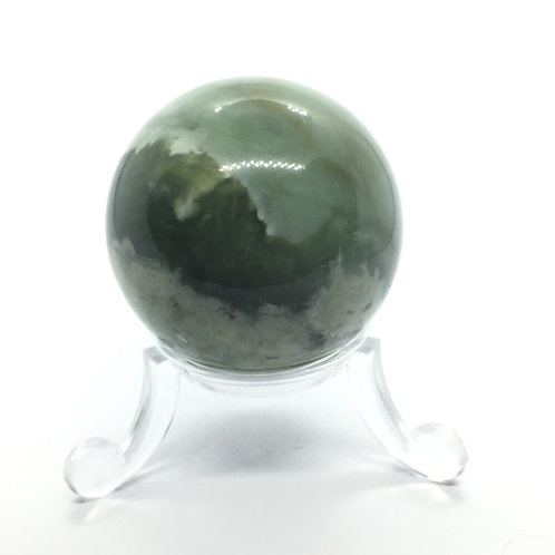 New Jade -A -40 mm Crystal Sphere with Free Stand