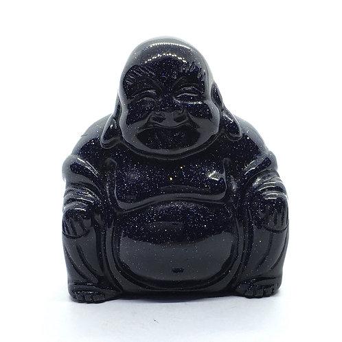 Blue Goldstone Crystal Buddha