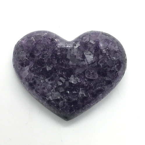 Amethyst Cluster Hearts - Small