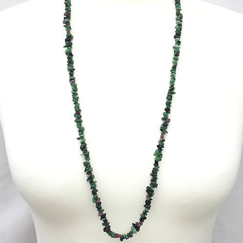 Ruby Zoisite 90 cm Chip Necklace