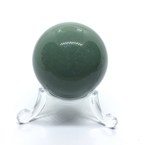 Green Aventurine 40 mm Crystal Sphere with Free Stand
