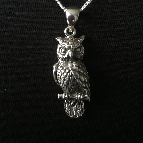 Owl Pendant (Sterling Silver)