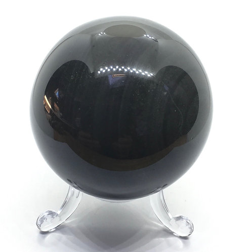 Black Obsidian 60 mm Sphere with free stand