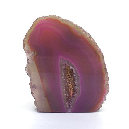 Pink Agate Geode 127 grams