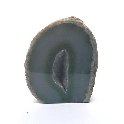 Green Agate Geode  137  grams - 62 mm