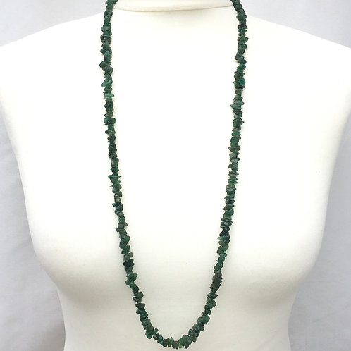 Aventurine 90 cm Chip Necklace