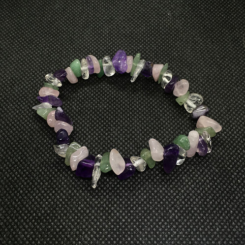 Four Stone Crystal Chip Bracelets