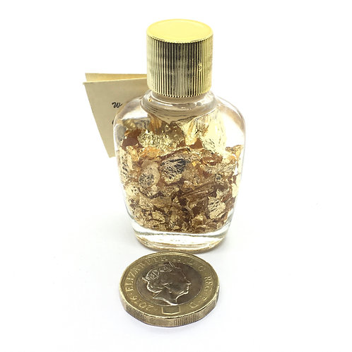 Decorative Mini Bottle of Real Gold Flakes