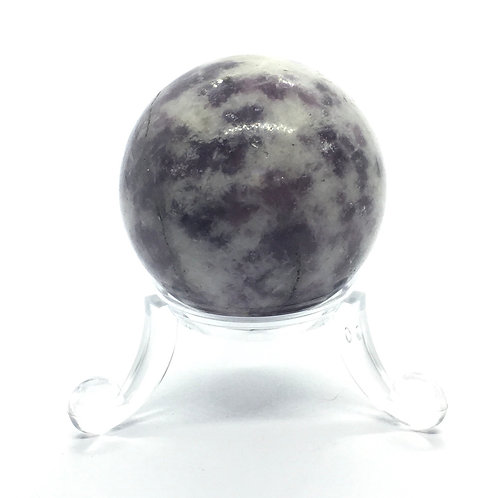 Lepidolite - A - 40 mm Crystal Sphere with Free Stand