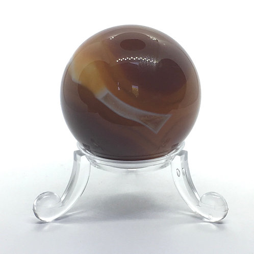 Carnelian - B - 40 mm Crystal Sphere with Free Stand