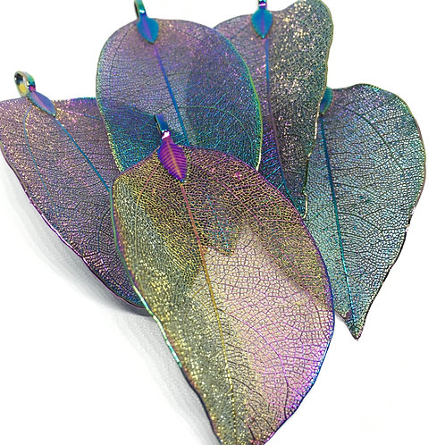 Electro Plated Coloured Leaf