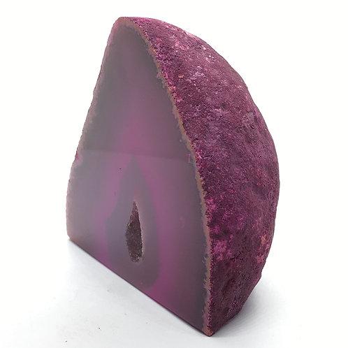 Pink Agate Geode 274g