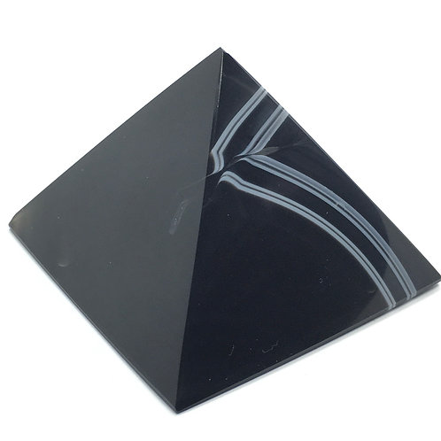 Black Agate Pyramid - 135 grams