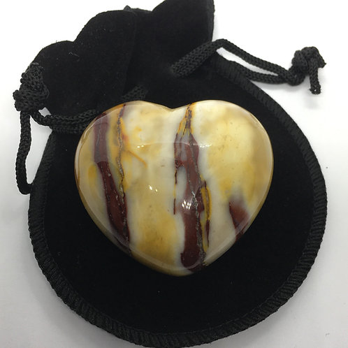Mookaite 45 mm  Heart with Free Pouch