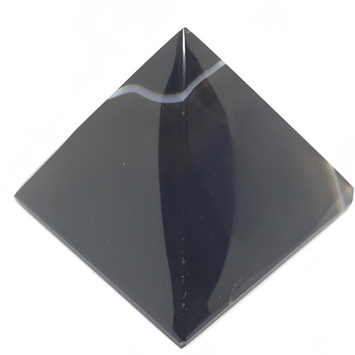 Black Agate Pyramid 185 Grams