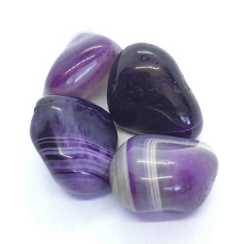 Agate Tumblestones Purple,