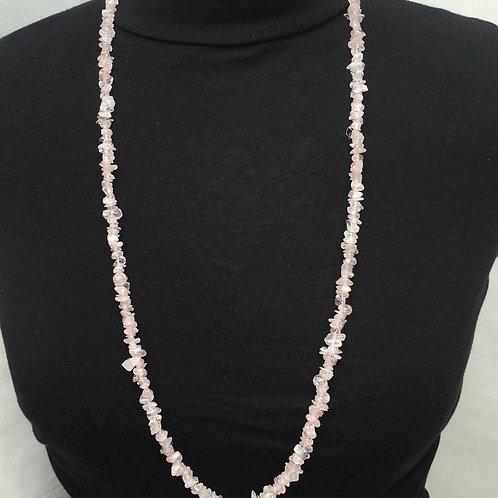 Rose Quartz 90 cm Chip Necklace