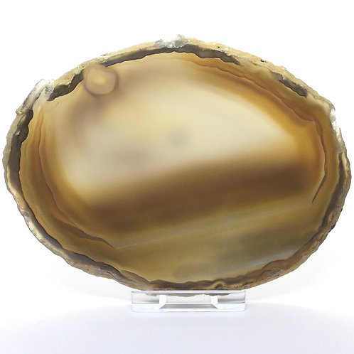 Natural Agate Slice -Size 4 - A - Polished with Free Stand