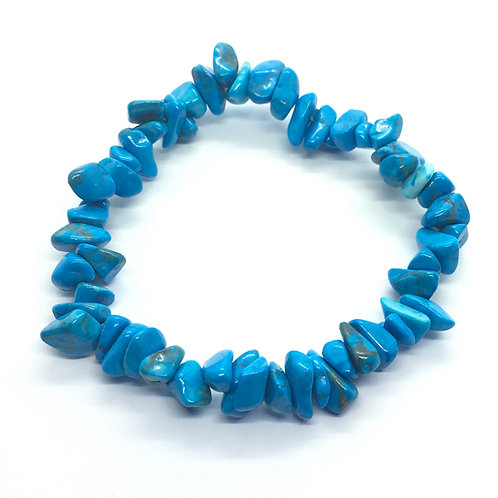 Blue Howlite Crystal Chip Bracelet