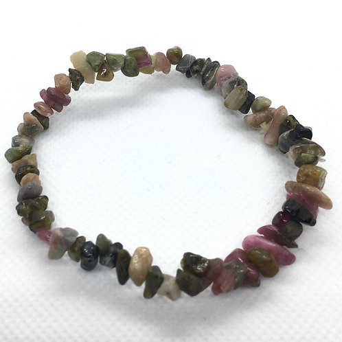 Tourmaline Mixed Crystal Chip Bracelet
