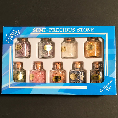 9 Gemstone Treasure Bottle Gift Set in Presentation Box